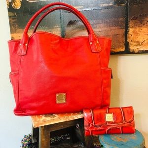 DOONEY & BOURKE RED Kristen Large Tote with Wallet